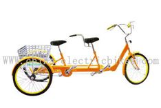 Twin tandem trike, with crank drive motor ,with CE & EN15194 certifications -Tandem Electric Trike