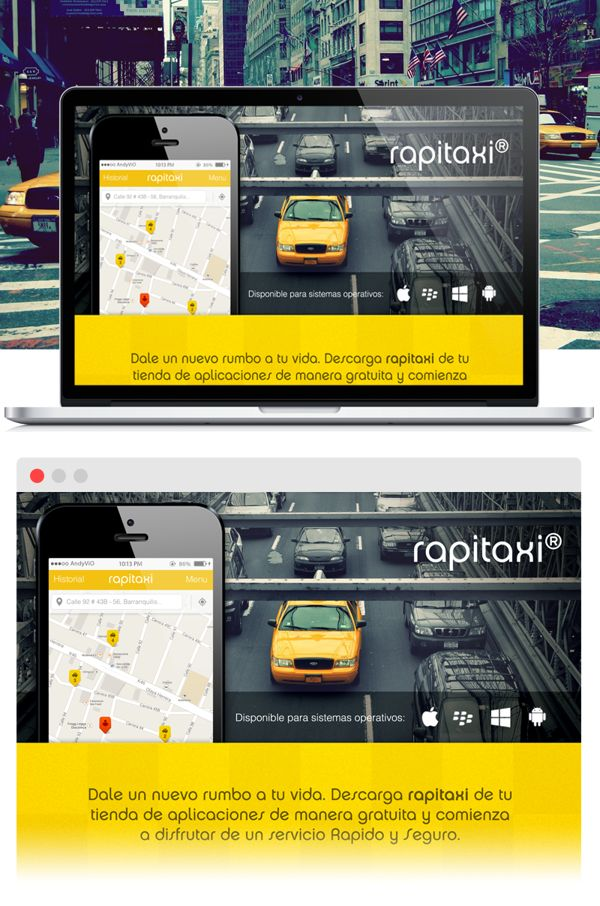Rapitaxi // Landing shot by AndyCervantesCure (ByAndyViO), via Behance
