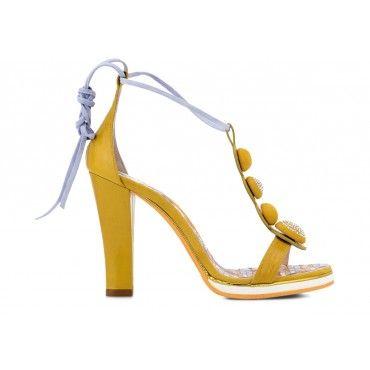Sandals Woman Fabi F2392 REFLEX 6687 GIALLO - Fabi  #yellow #sandals #heels #shoes #summershoes #openshoes @fabishoes
