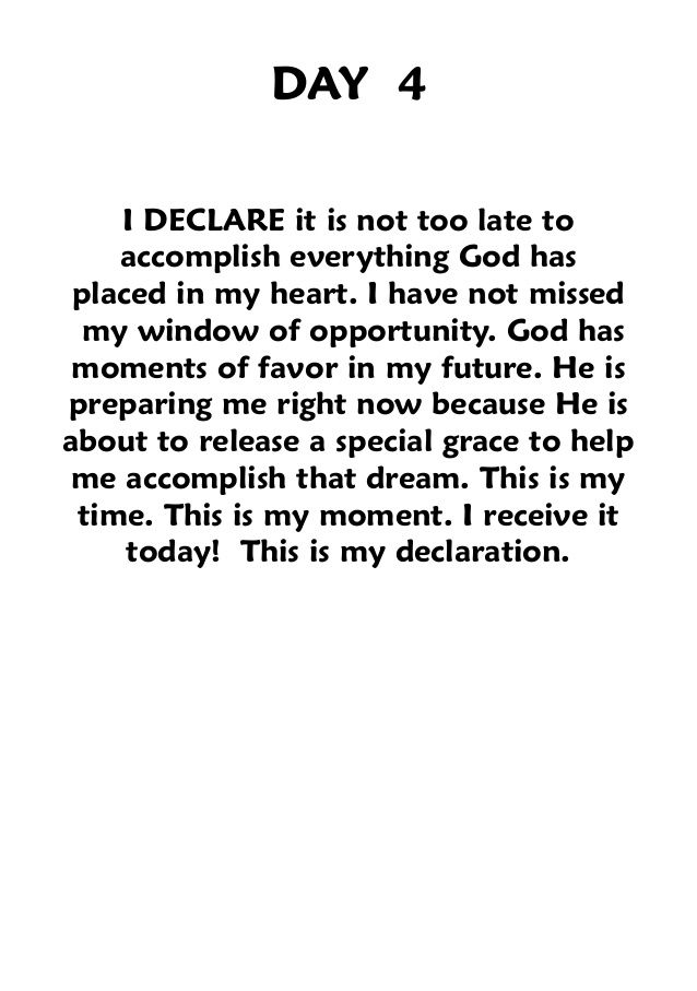 "In the Name of Jesus Christ, i Declare this!      Book: ""i Declare"" devotional, joel osteen."