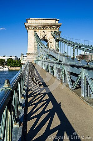 Chain Bridge, Szechenyi or Lanchid, was the first permanent stone-bridge in Budapest, Hungary, over Danube river