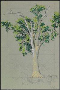 "alex colville - study for ""elm tree at horton landing"" (1956)"