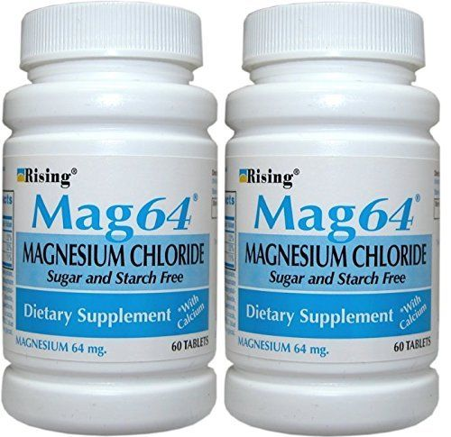 Rising Mag64 Magnesium Chloride with Calcium Tablets 60 ea Pack of 2 -- Want additional info? Click on the image. (It is an affiliate link and I receive commission through sales)