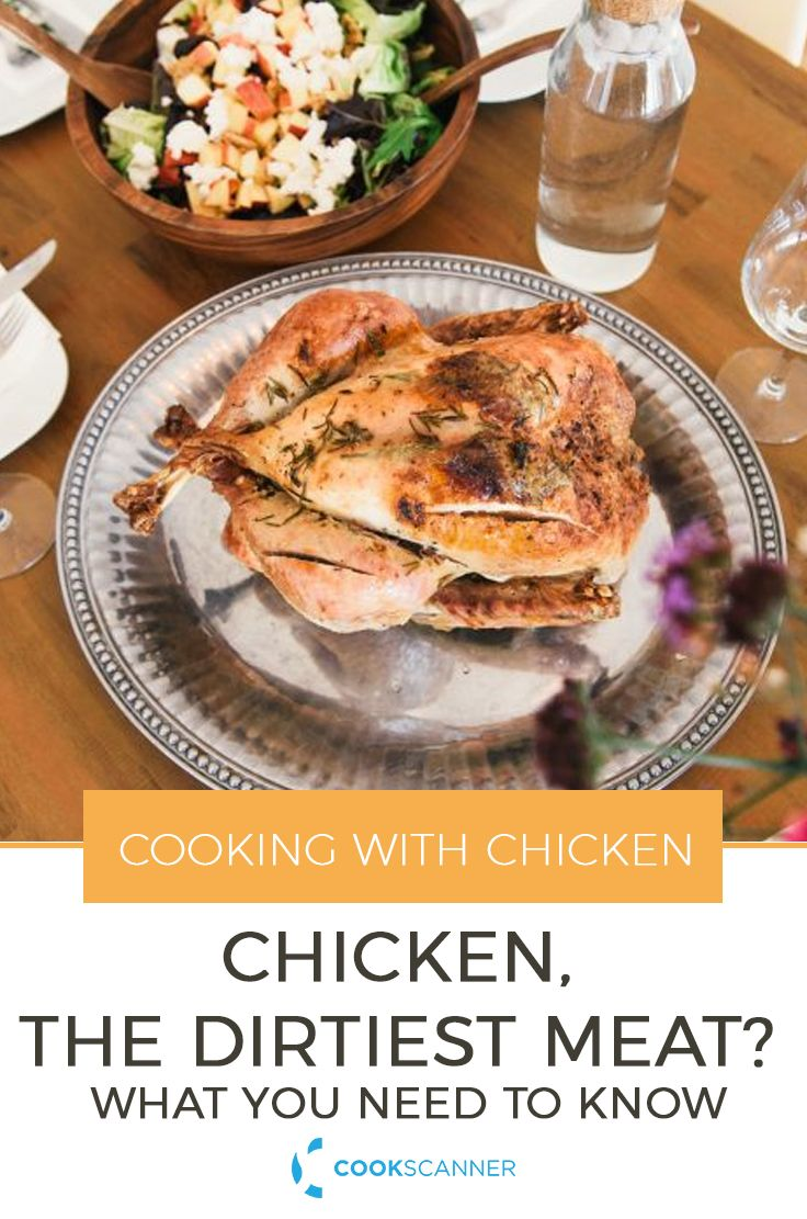 Chicken, The Dirtiest Meat? What you Need to Know | Learn all about the proper storing and thawing procedures for chicken and how to cook chicken safely. https://cookscanner.com/blog/chicken-safety/