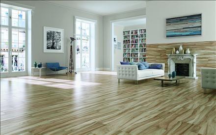 Propuesta pavimento de vivienda serie MUKALI  de 23x120cm
