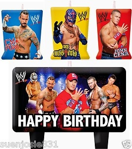 WWE Wrestling Birthday Cake Candles Set Decoration Toppers John Cena