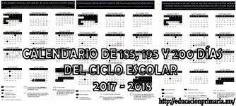 Resultado de imagen para calendario escolar 2017_2018