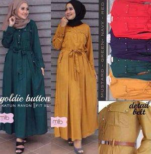 goldy button maxi ( baju hijab )
