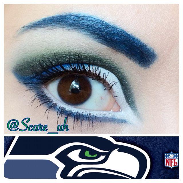 Seahawks Eye Makeup