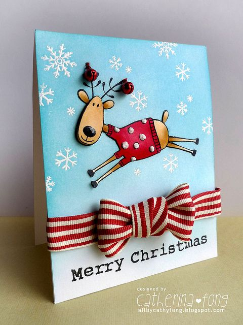 Merry Christmas Reindeer card | Flickr - Photo Sharing!