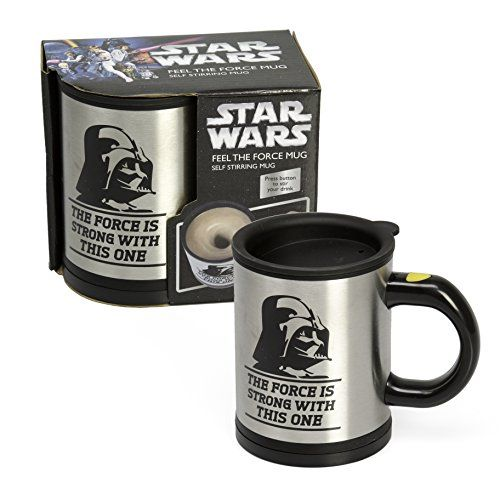 Star Wars Darth Vader Self Stirring and Spinning Mug - Mix your drink with the Force - http://extranerdy.com/product/star-wars-darth-vader-self-stirring-and-spinning-mug-mix-your-drink-with-the-force/