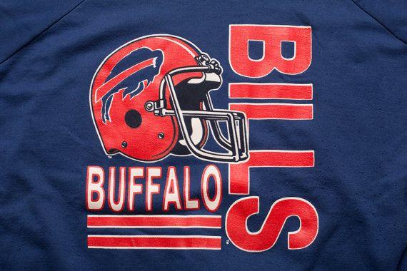 Vintage 80s Buffalo Bills Sweatshirt, Classic NFL Apparel, Garan