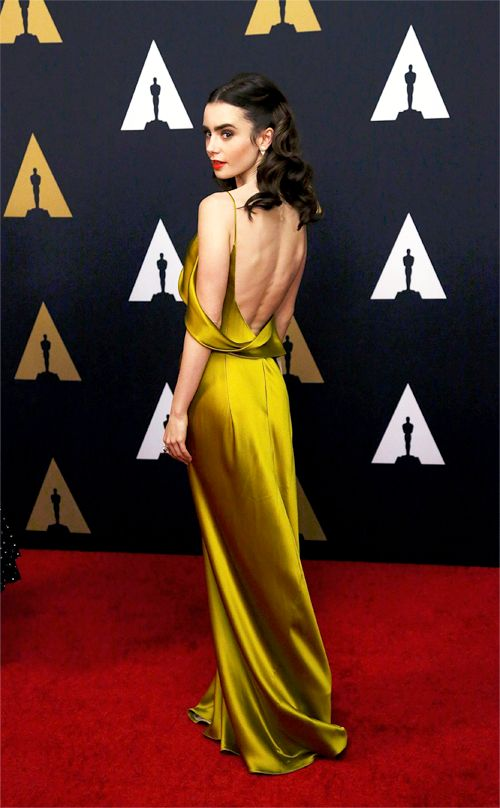 Daily Lily Collins  : Actress Lily Collins attends the Academy of Motion...