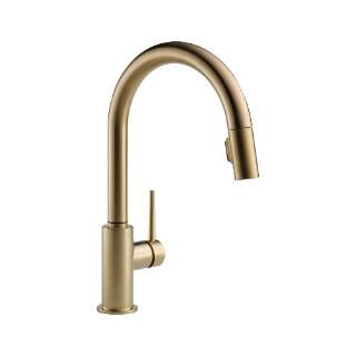 Check out the Delta 9159-CZ-DST Trinsic Single Handle Pull Down Kitchen Faucet in Champagne Bronze priced at $358.75 at Homeclick.com.