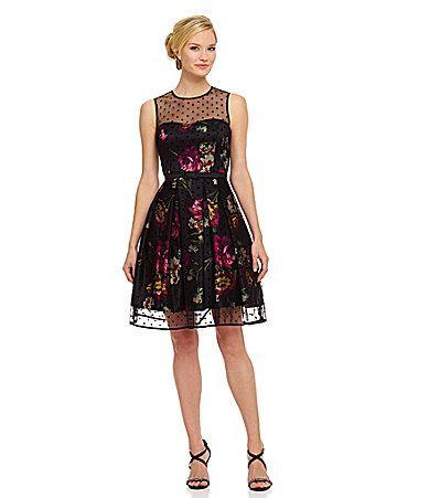 Eliza J Floral FitandFlare Dress #Dillards