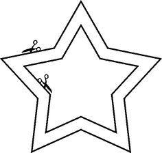 knutsel ster. Retehandig om je zelfgemaakte kerstkaarten mee te versieren