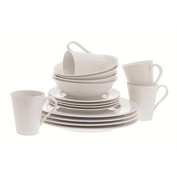Briscoes - Maxwell & Williams Cosmopolitan White Porcelain 16PC Dinner Set
