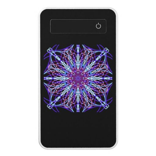 Powerbank, Kaleidoscope Mandala Art Black Purple