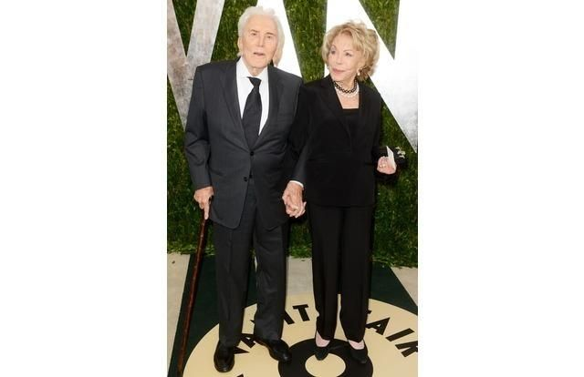 Kirk Douglas and Anne Buydens, married in 1954, 61 years