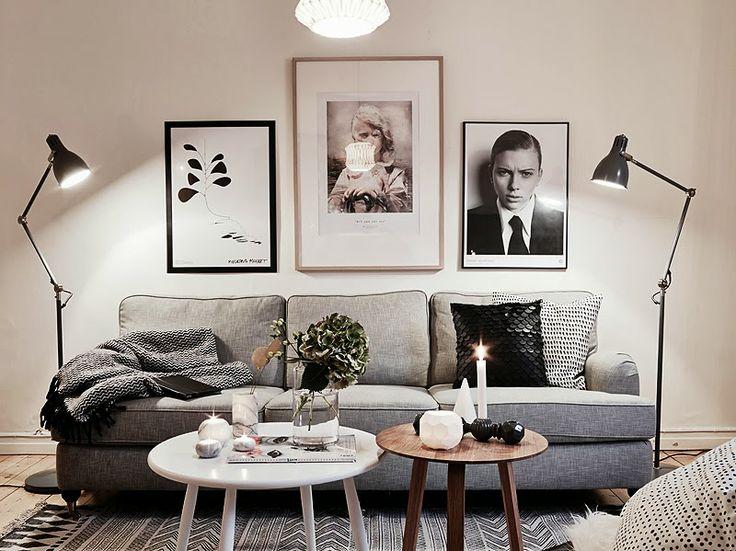 salon w skandynawskim stylu