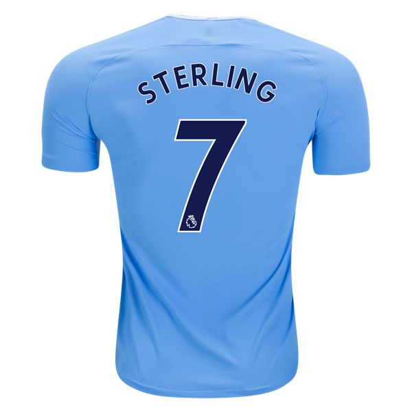 Nike Raheem Sterling Manchester City Authentic Home Jersey 17/18