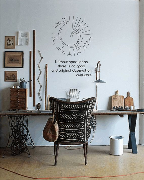 Science art evolutionary biology Darwin quote and by cutnpasteshop