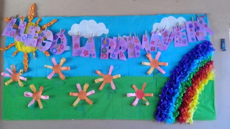 Periodico mural marzo lleg la primavera colegio for El mural avisos de ocasion