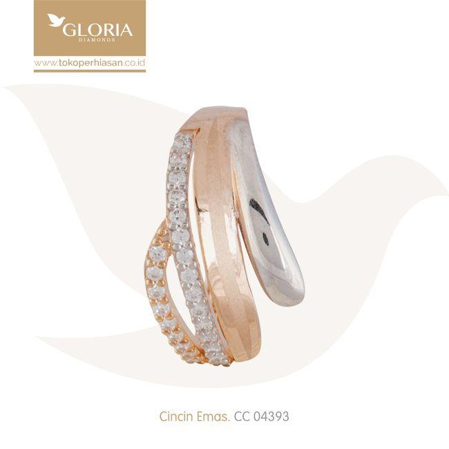 Cincin Emas Bentuk Silang Ujung Tumpul. #goldring #goldstuff #gold #goldjewelry #jewelry #engagementring #perhiasanemas #cincinemas #tokoperhiasan #tokoemas