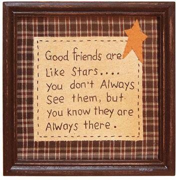 *True Friendship, Remember This, Best Friends, Frames, Birthday Gift, Stars, So True, Primitives Country, Friends Quotes