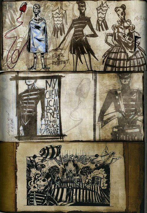 Gerard Way's concept art for the Black Parade. He is such an amazing artist. He is the reason i started drawing again.