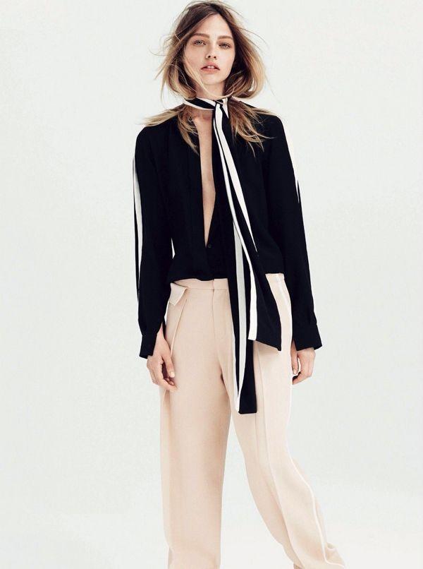 Саша Пивоварова в фотосессии для июльского Vogue UK / фото 2015