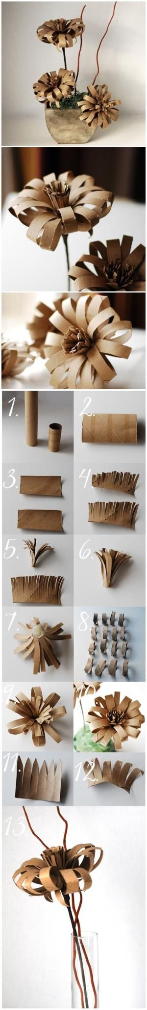 Diy Toilet Paper Roll Flowers by lawanda