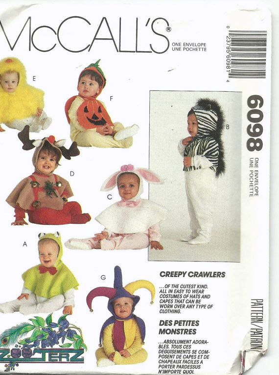 uncut darling sewing pattern mccalls 6098 baby by itssewvintage 500 - Baby Halloween Costume Patterns
