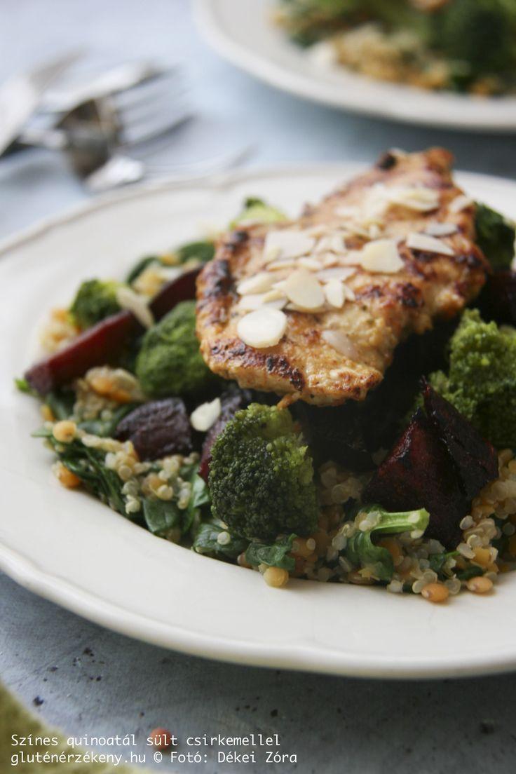 Színes quinoatál fűszeres pulykamellel – avagy *CÖLITÁNYÉR a gyakorlatban Hogyan valósítsuk meg, hogy az ebédünk jó minőségű szénhidrátforrást, szín- és rostanyagokban gazdag zöldségeket és teljes értékű fehérjeforrást is tartalmazzon? Készítsünk egytálételeket különböző értékes alapanyagokból! Megmutatjuk hogyan!