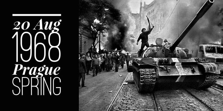 20 August 1968. Soviet and the Warsaw Pact troops invade Czechoslovakia and crush the Prague Spring