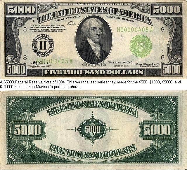 5000 dollar bill - Bing Images