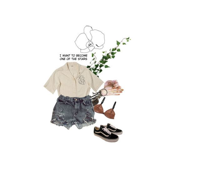 """""""feel // prgmat"""" by gholddust ❤ liked on Polyvore featuring AllSaints and Vans"""