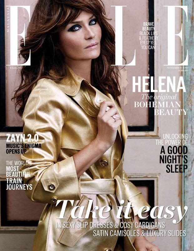 Elle Malaysia November 2016 Cover story Starring Helena Christensen