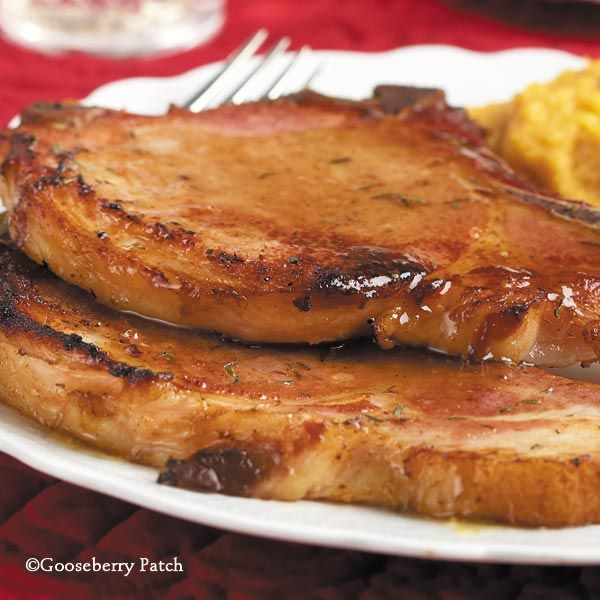 ... mustard to make a flavorful sauce for Honeyed Raspberry Pork Chops