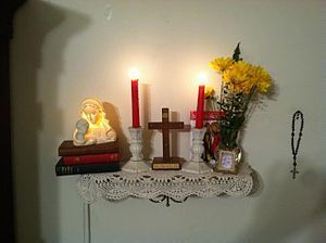 A Home Altar Is A Sacred Area Sanctuary Or Shrine Kept In The Home Of A