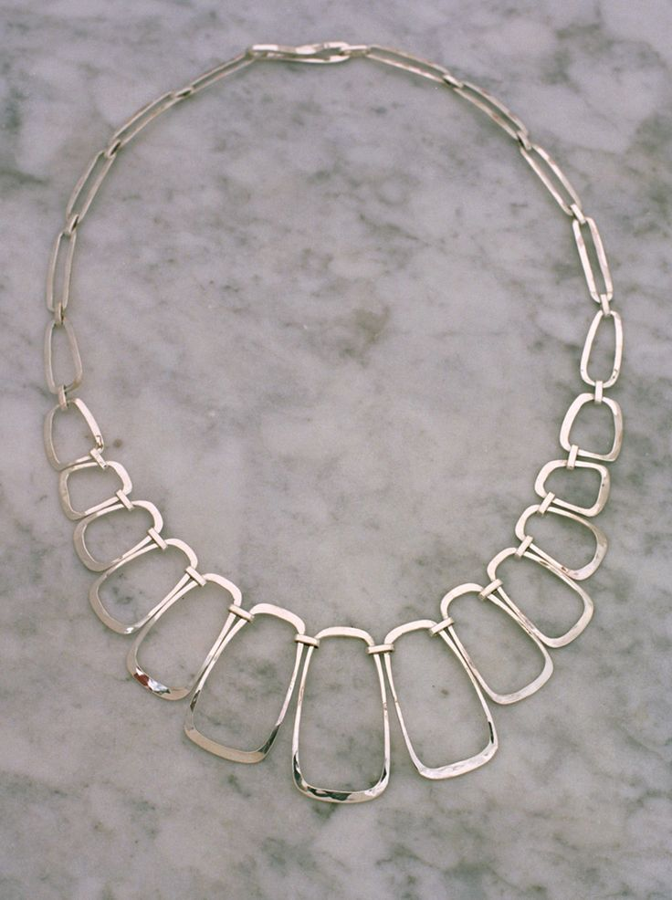 Necklace | Paul Griswold.  Sterling silver