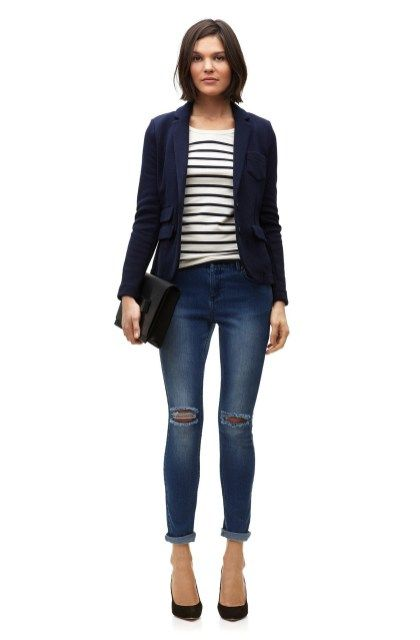 Casual blazer outfit for women (211)