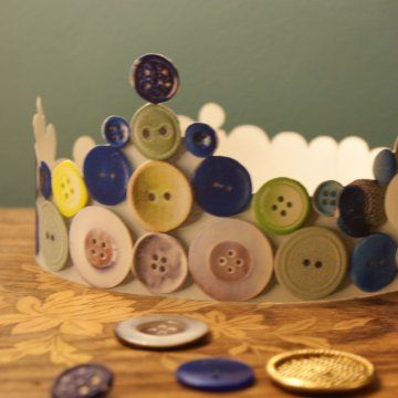 Une couronne des rois mages en boutons