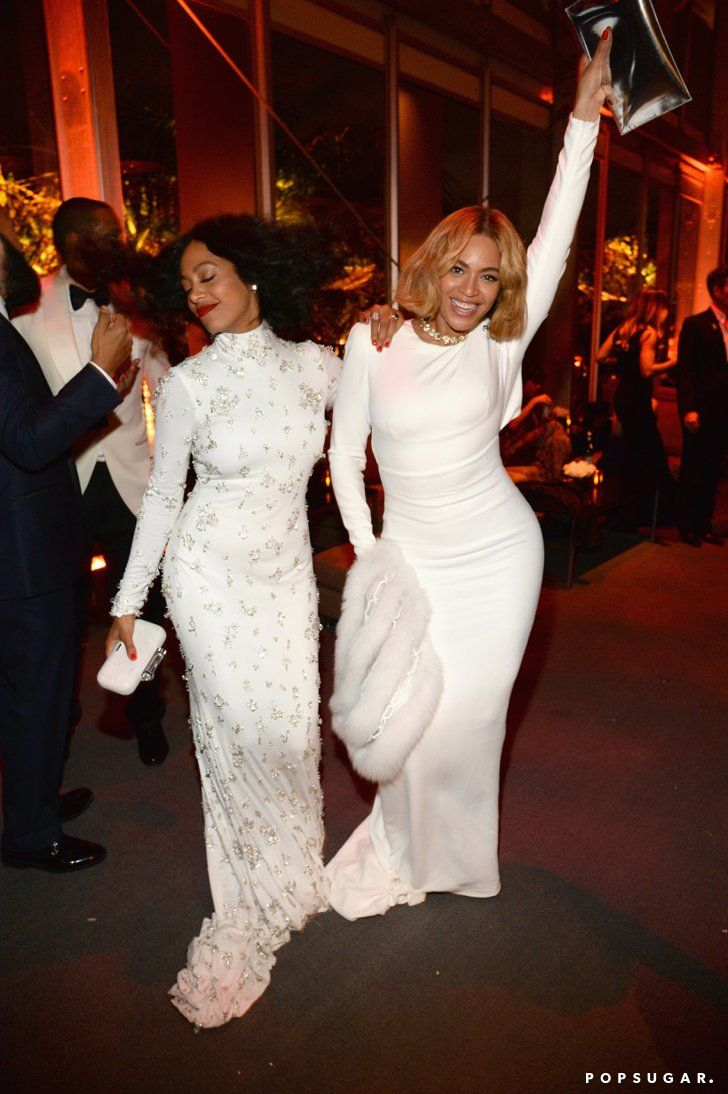 Pin for Later: The 20 Most Fun-Filled Photos From Vanity Fair's Oscars Afterparty Solange Knowles and Beyoncé