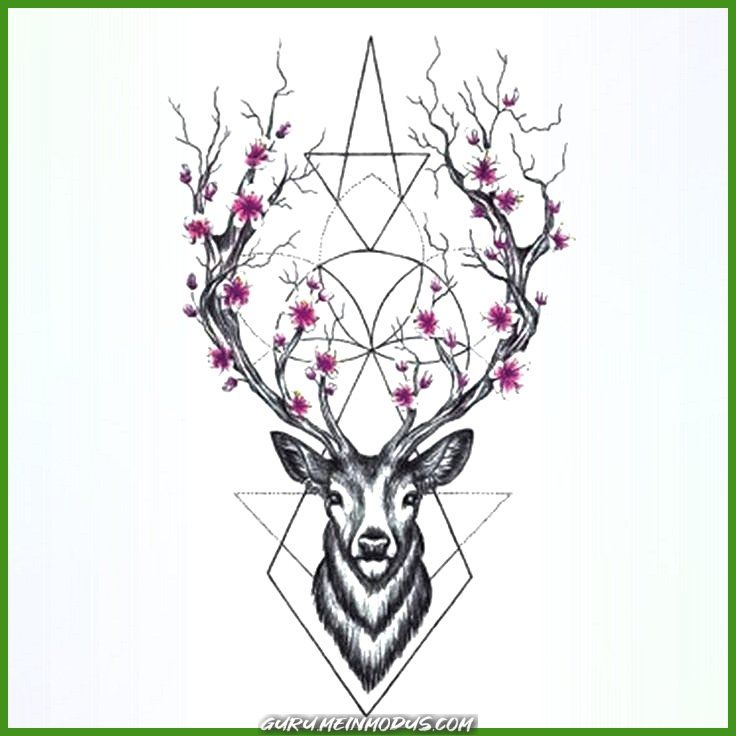 Zauberhafte Wyuen Hot Designs Deer Temporäre Tätowierung Zu Händen Frauen Tattoo Body Weise 9…