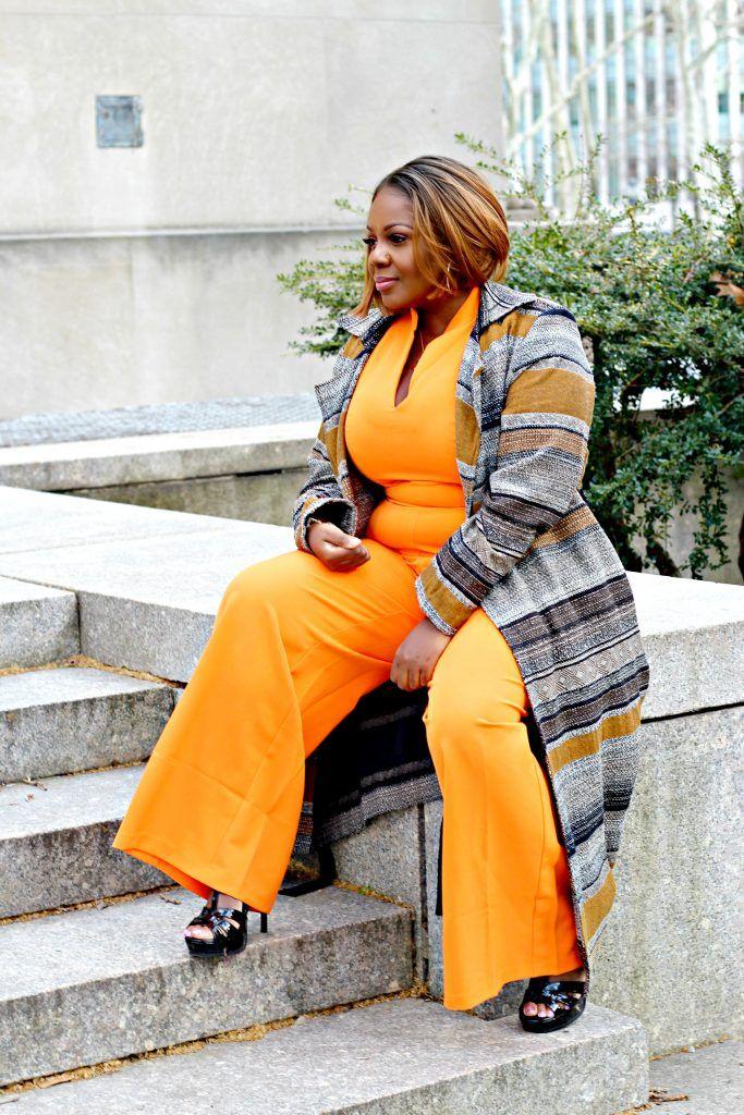 feffa45fc86df Lifestyle Blogger Sandee Joseph wears  newyorkandcompany Gabrielle Union  7th ave Jumpsuit