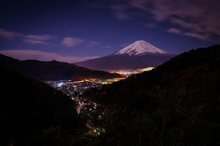 Twitter / kritayuga: 今晩はとても富士山が綺麗だったので、甲府から帰ってくる途中で ...