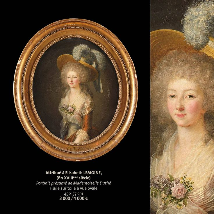 attributed to Elisabeth Lemoine, presumed portrait of Mademoiselle Duthé