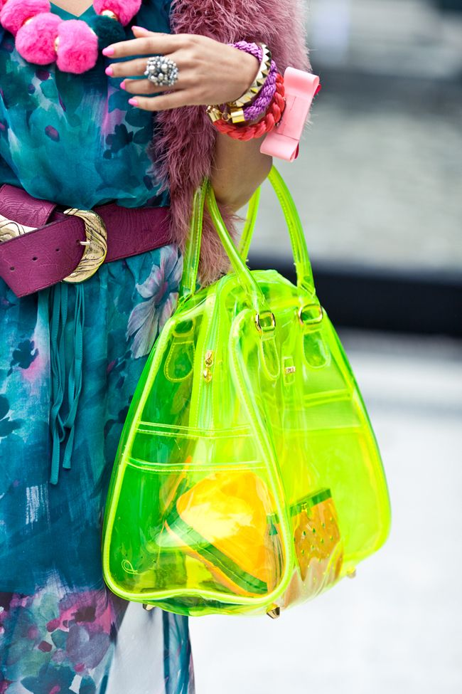 Never saw a neon anything or a clear bag I didn't like. Oh, a definite yes.