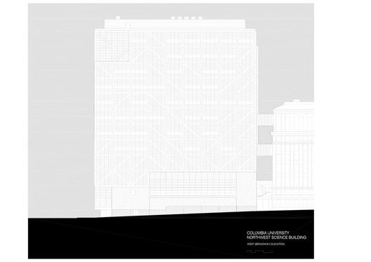 Columbia University Northwest Corner Building,elevation